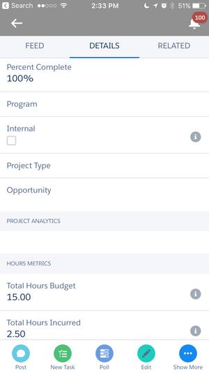 Mobile-friendly for Salesforce1 app | Milestones PM+