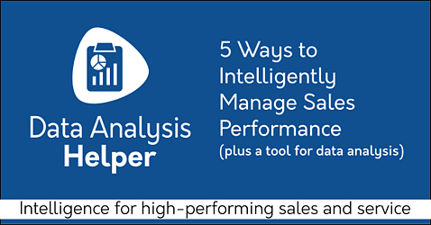 5 Ways To Intelligently Manage Sales Performance with Free Salesforce sales analytics app Data Analysis Helper on AppExchange: Dashboard packs, performance charts, reps, territory. By trusted Salesforce partner Passage Technology.