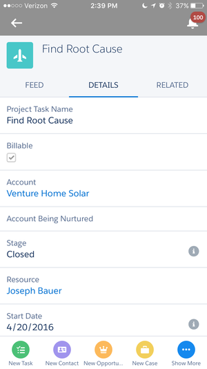 Milestones PM+ is optimized for the Salesforce 1 mobile app