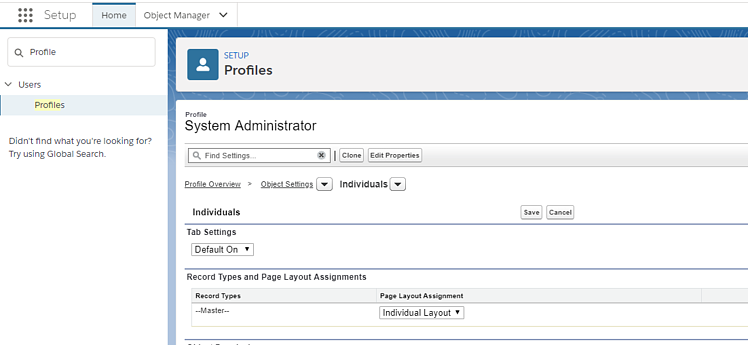 Salesforce GDPR, enable Individual page layout for User Profiles