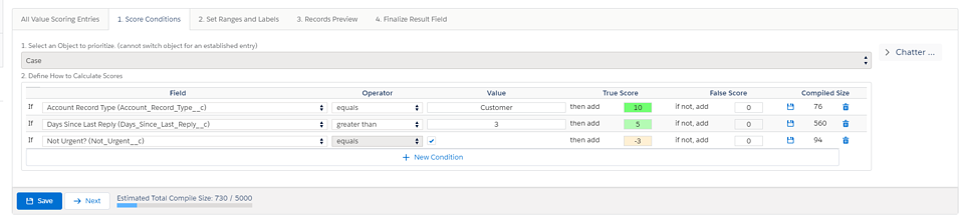 Customer Service Case value scoring conditions-1