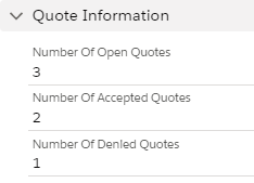 Quote information