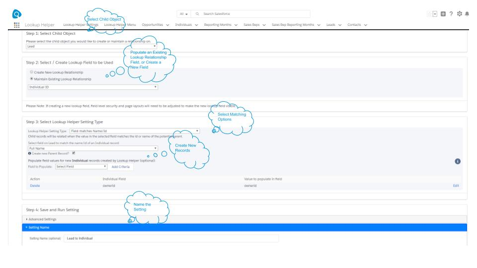 Automatically Create and Relate Individual Records in Salesforce
