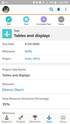 Free project management app for Salesforce, Milestones PM+ is optimized for the Salesforce1 mobile app