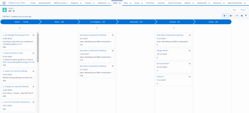 Prioritize work with Project Task Kanban in Lightning.