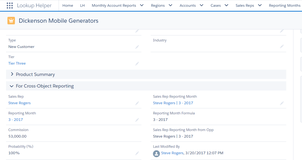 Use Lookup Helper to tie Salesforce Standard and Custom Objects together, then aggregate data with Rollup Helper to make complex reporting requirements easy.