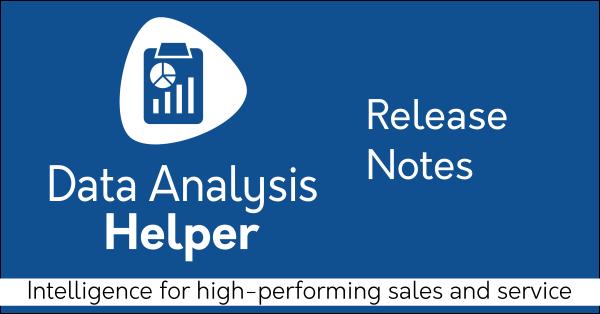Data Analysis Helper Release Notes v7.5
